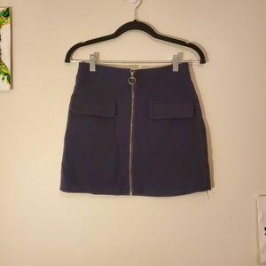 Forever 21 - Navy Blue Zip Up Mini Skirt